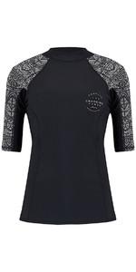 Animal Womens Nessea Short Sleeve Rash Vest Black CL8SN344