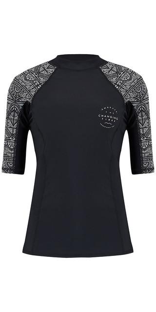 2018 Animal Womens Nessea Short Sleeve Rash Vest Black Cl8sn344 Picture