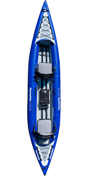 2019 Aquaglide Chelan HB Tandem XL 3 Man High Pressure Inflatable Kayak Blue - Kayak Only AGCHE3 2nd
