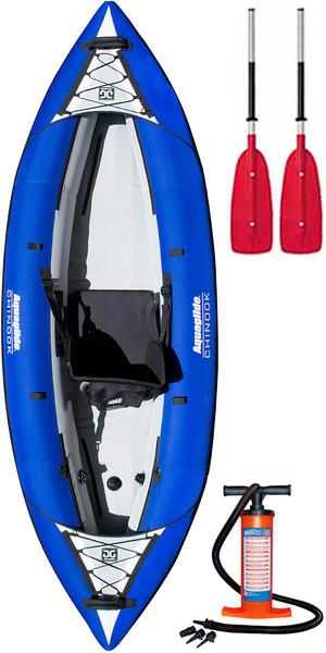 2018 Aquaglide Chinook 1 Man Inflatable Kayak BLUE + 1 FREE PADDLE + Pump