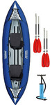 2019 Aquaglide Chinook 2 Man Inflatable Kayak BLUE + 2 FREE PADDLES + Pump