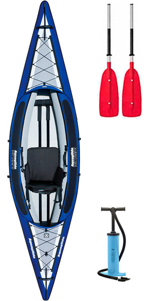 2018 Aquaglide Columbia 1 Man Inflatable Touring Kayak + 1 FREE PADDLE + PUMP