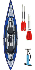 2020 Aquaglide Columbia XP Tandem 3 Man XL Kayak + 2 FREE PADDLES + PUMP