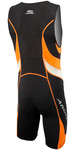 2019 Aropec Mens Lion Lycra Triathlon Suit Black Orange SS3T106M