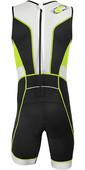 2019 Aropec Mens Tri-Compress TX 1 Back Zip Lycra Triathlon Suit Black Lime SS3TC109MBZ