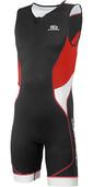 2019 Aropec Mens Tri-Compress TX 1 Lycra Triathlon Suit Black Red SS3TC109M