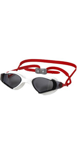 2019 Aropec Observer Swimming Goggles White / Red GASKS53