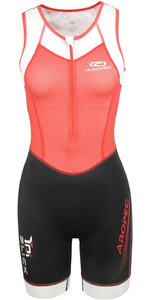 2019 Aropec Womens Tri-Slick Lycra Triathlon Suit Black Coral S3TS115W