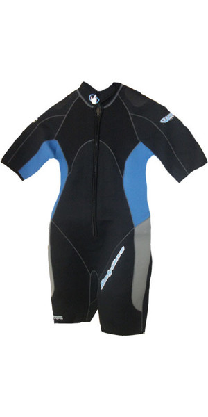 Bodyglove WOMENS Aura 3mm Dive Shorty in Black / Blue BG493
