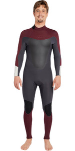 2018 Billabong Absolute 3/2mm GBS Back Zip Wetsuit BIKING RED H43M16