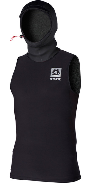 Mystic Mens Bipoly Thermo Hooded Tank Top BLACK 140095