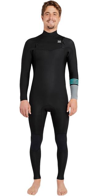 2018 Billabong Revolution Tribong 3/2mm Chest Zip Wetsuit Black 2 F43m16 Picture
