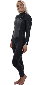 2018 O'Neill Womens Psycho Tech 5/4mm Chest Zip Wetsuit BLACK 4989