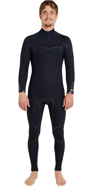 2018 Billabong Furnace Carbon Ultra 3/2mm Chest Zip Wetsuit Black F43m10 Picture