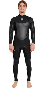 2018 Billabong Absolute X 3/2mm Chest Zip Steamer Wetsuit BLACK F43M20
