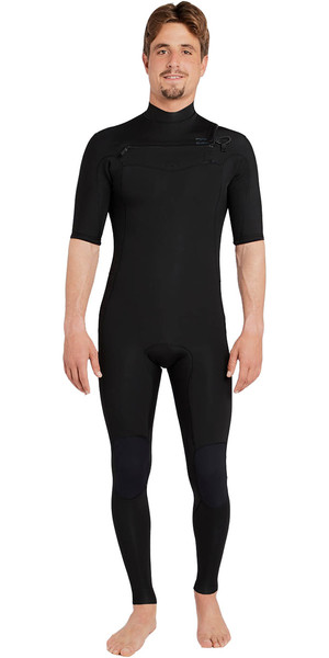 2018 Billabong Revolution DBAH 2mm Chest Zip Short Sleeve Wetsuit BLACK H42M17