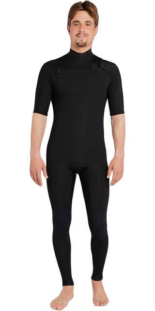 2018 Billabong Revolution Dbah 2mm Chest Zip Short Sleeve Wetsuit Black H42m17 Picture