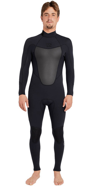 2018 Billabong Absolute 3/2mm Back Zip Flatlock Wetsuit BLACK H43M15