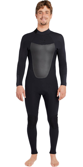 2018 Billabong Absolute 3/2mm Gbs Back Zip Wetsuit Black H43m16 Picture