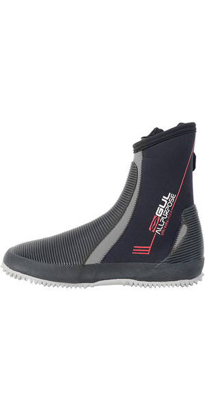 2019 Gul All Purpose 5mm Neoprene Boots Black / Grey BO1276