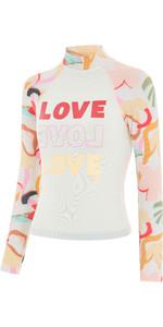 2021 Billabong Junior Girls Swim Long Sleeve Rash Vest W4KY16 - Multi