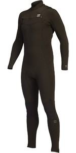 2021 Billabong Mens Absolute 4/3mm GBS Chest Zip Wetsuit Z44M18 - Black Hash