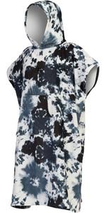 2021 Billabong Mens Hooded Towel Robe Poncho Z4BR50 - Black Tie Dye
