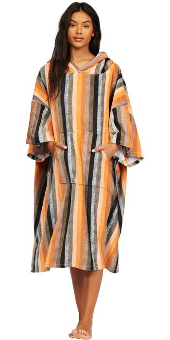 2021 Billabong Womens Hooded Towel Robe Poncho Z4BR40 - Serape