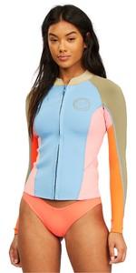 2021 Billabong Womens Peeky Jacket 2mm Wetsuit Top Z42G19 - Heat Wave