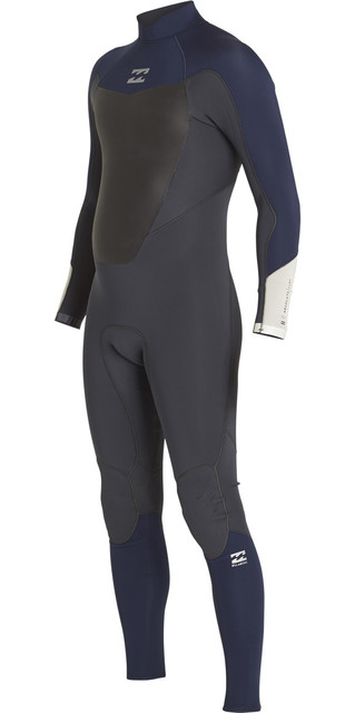 2018 Billabong Absolute Comp 4/3mm Back Zip Wetsuit Graphite F44m22 Picture