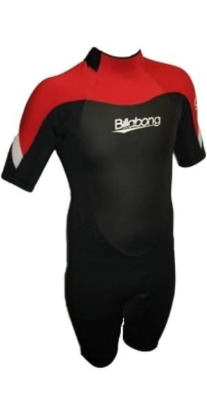 Billabong Foil 2mm JUNIOR Shorty Wetsuit Black / Red V42B01 - 2ND