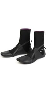 2020 Billabong Furnace Absolute 3mm Split Toe Boots Black Q4BT31