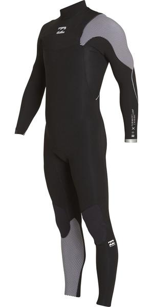2018 Billabong Furnace Comp 5/4mm Zip Free Wetsuit BLACK 2 F45M15