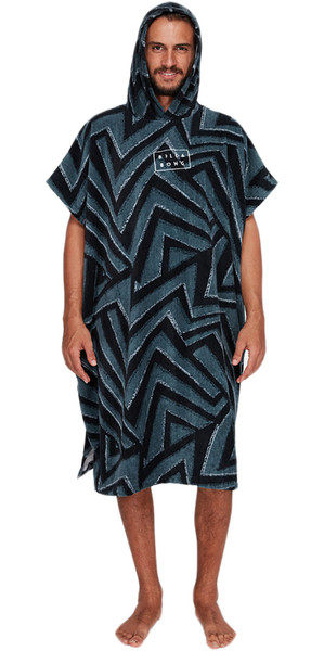 2018 Billabong Hoodie Towel / Changing Robe Short Sleeve CHARCOAL H4BR01