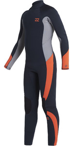 2021 Billabong Junior Absolute 4/3mm Back Zip GBS Wetsuit U44B12 - Navy
