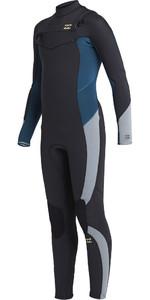 2021 Billabong Junior Absolute 4/3mm Chest Zip GBS Wetsuit U44B13 - Antique Black