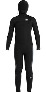 2020 Billabong Junior Absolute 5/4mm Hooded Chest Zip Wetsuit U45B91 - Black