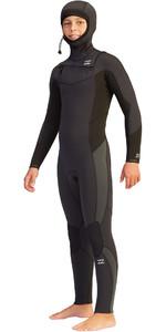 2021 Billabong Junior Absolute 5/4mm Hooded Chest Zip GBS Wetsuit Z45B14 - Black Rock
