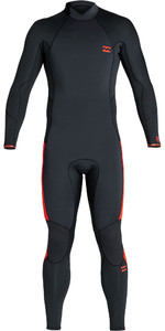 2020 Billabong Junior Boys Furnace Absolute 4/3mm Back Zip GBS Wetsuit S44B60 - Red Orange