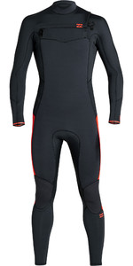 2020 Billabong Junior Boys Furnace Absolute 4/3mm Chest Zip GBS Wetsuit S44B61 - Red Orange