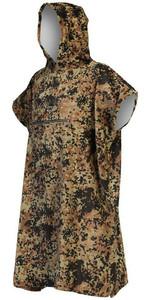 2021 Billabong Mens Hooded Towel Robe Poncho Z4BR50 - Military