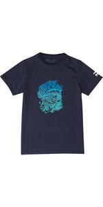 2019 Billabong Junior Boys Surf Attack Rash Surf Tee Navy N4EQ03