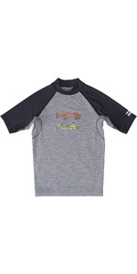 2019 Billabong Junior Boys Team Wave Short Sleeve Rash Vest Grey Heather N4KY08