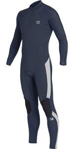 2019 Billabong Junior Furnace Absolute 4/3mm Back Zip Wetsuit Blue Q44B03