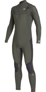 2019 Billabong Junior Furnace Absolute 4/3mm Chest Zip Wetsuit Olive Q44B04