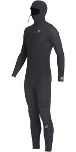 2019 Billabong Junior Furnace Absolute 5/4mm Hooded Chest Zip Wetsuit Black Q45B75