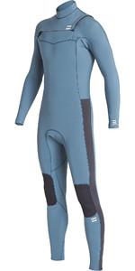 2019 Billabong Junior Furnace Revolution 4/3mm Chest Zip Wetsuit Cascade Blue Q44B75