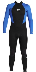 2020 Billabong Junior Intruder 4/3mm Back Zip GBS Wetsuit 044B18 - Blue