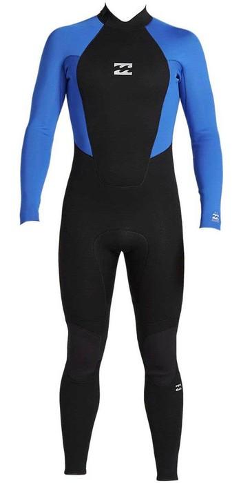 2021 Billabong Junior Intruder 4/3mm Back Zip GBS Wetsuit 044B18 - Blue