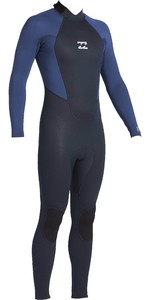 2020 Billabong Junior Intruder 4/3mm Back Zip GBS Wetsuit 044B18 - Navy